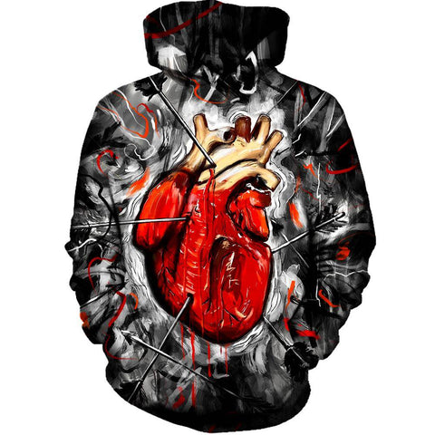 Image of Heart And Arrows Womens Hoodie