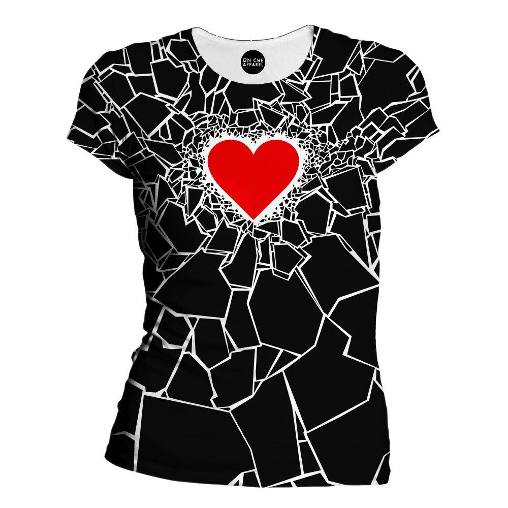 Black Heartbreaker Womens T-Shirt