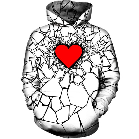 Image of White Heart Break Hoodie