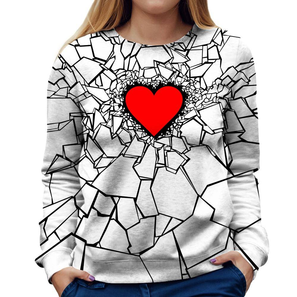 Hearbreak Womens Sweatshirt