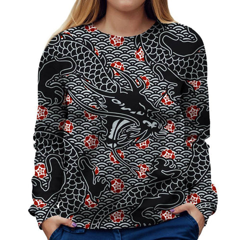 Image of Dragon Womens Sweatshirt