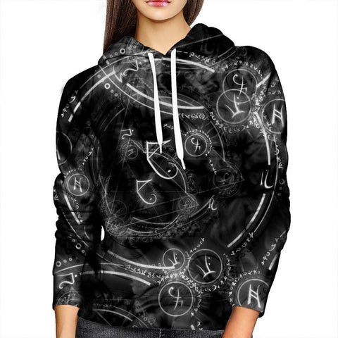 Image of Horoscope Circle Womens Hoodie