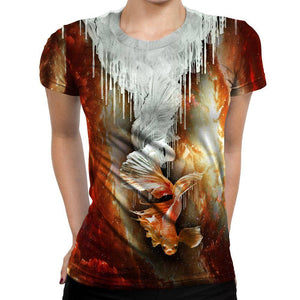 Koi Fish Womens T-Shirt