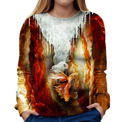 Image of Koi Fish Womens Sweatshirt