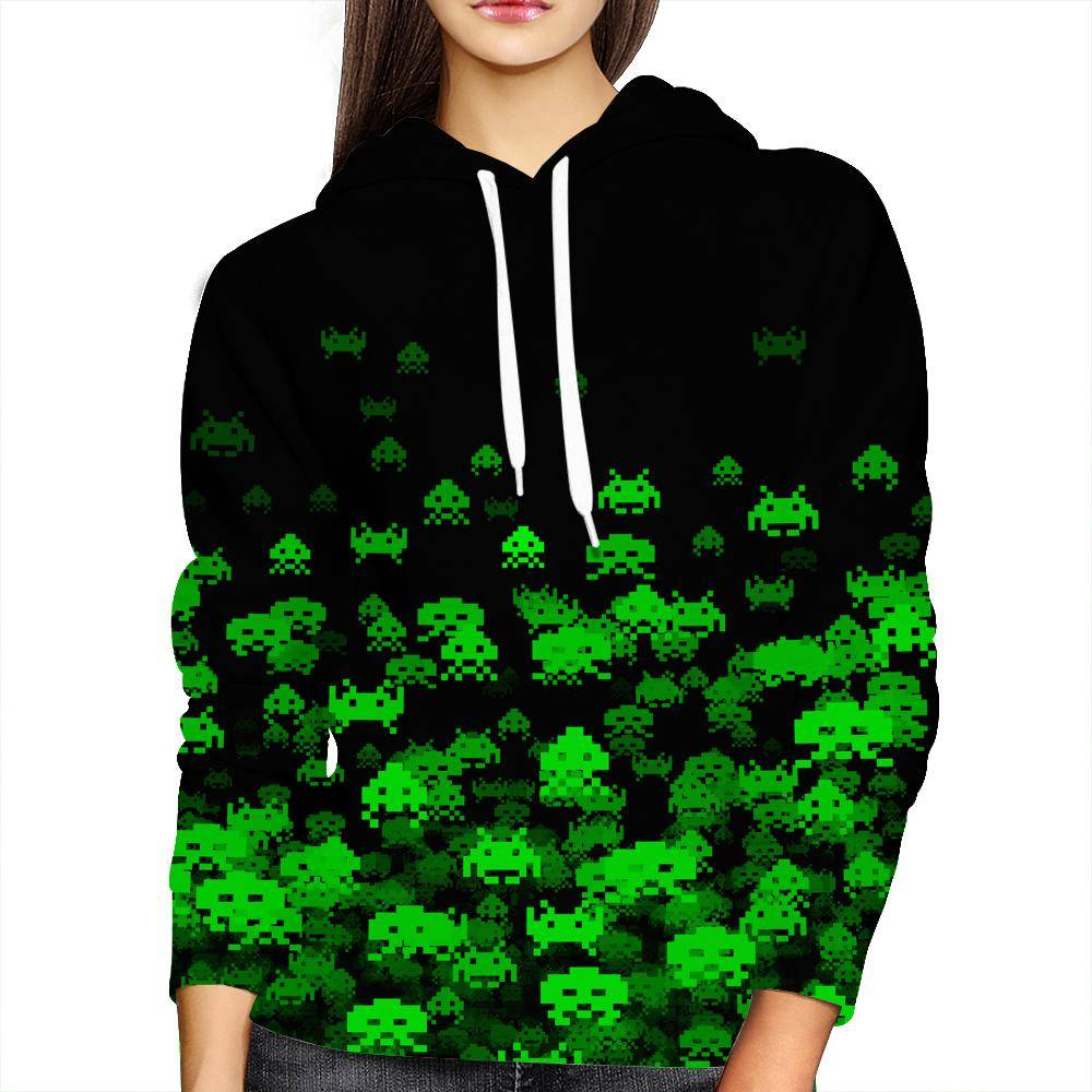 Invaded Womens Hoodie