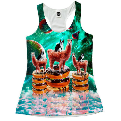 Image of Llama Frenchie Donuts Racerback