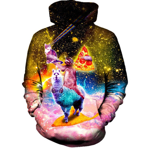 Image of Llama And Sloths Epic Adventure Womens Hoodie