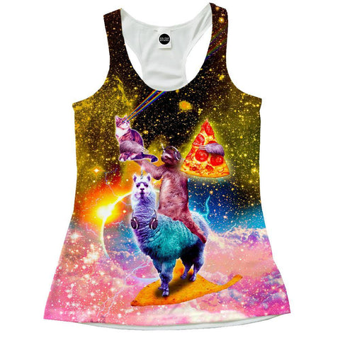 Llama And Sloths Epic Adventure Racerback