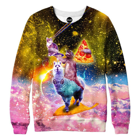 Image of Llama And Sloths Epic Adventure Sweatshirt