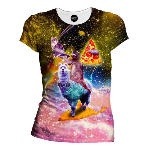 Image of Llama And Sloths Epic Adventure Womens T-Shirt
