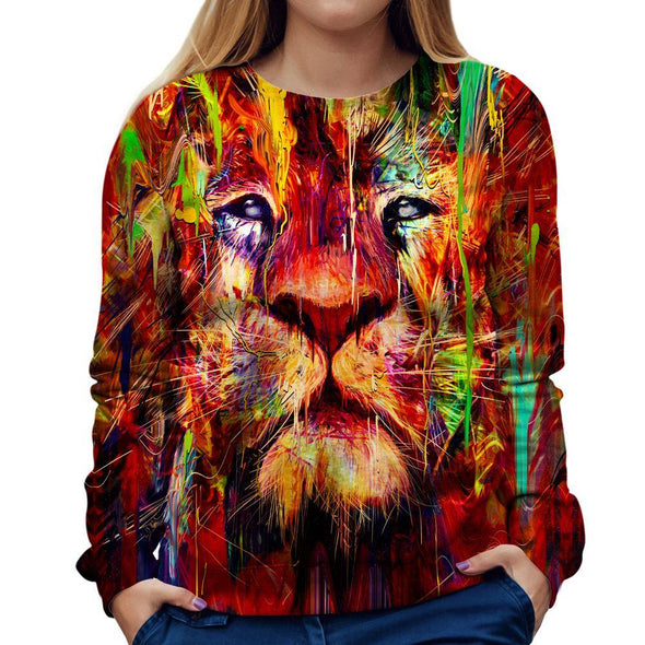 Lion Womens Sweatshirt