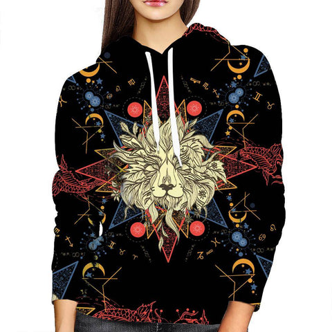 Image of Lion Zodiac womens Hoodie