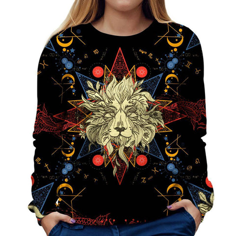 Image of Lion Zodiac Womens Sweatshirt