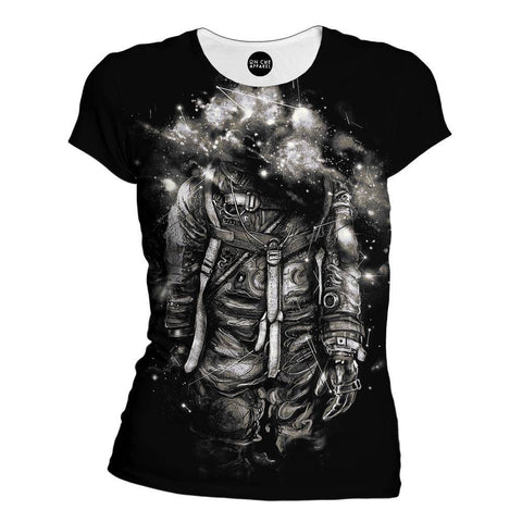 Lost In Cosmic Shades Womens T-Shirt