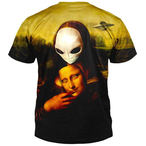 Alien Mona Lisa T-Shirt