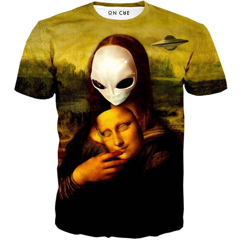 Image of Alien Mona Lisa T-Shirt