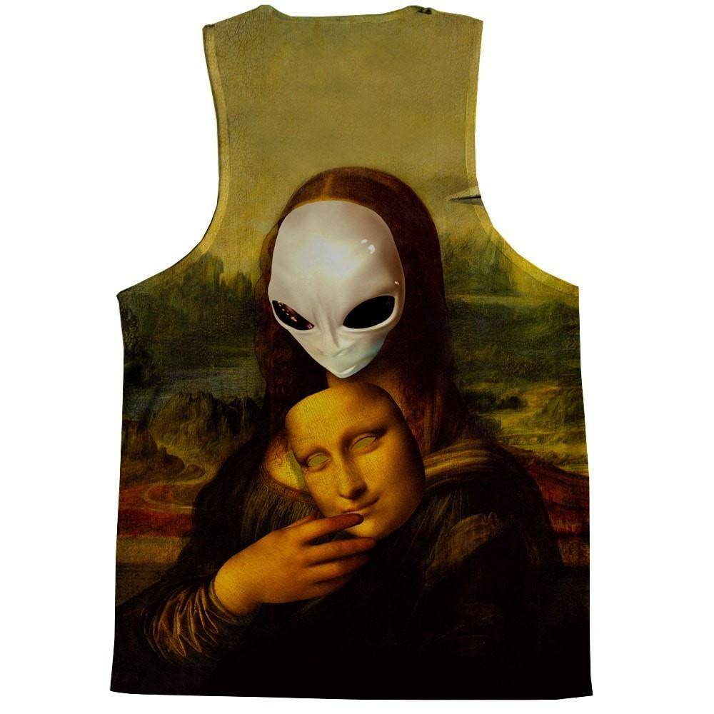 Alien Mona Lisa Tank Top