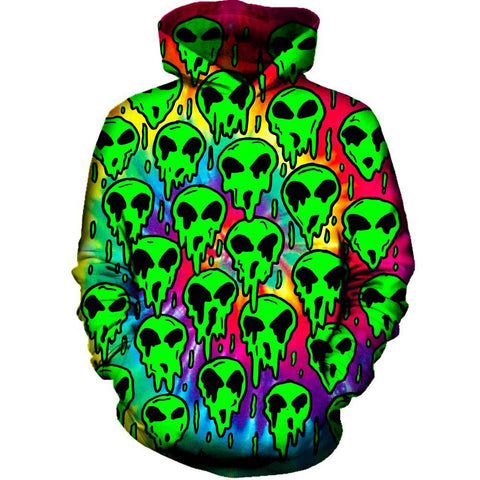 Image of Trippy Green Martian Hoodie