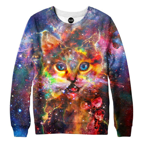 Nebula Kitty Womens Sweatshirt