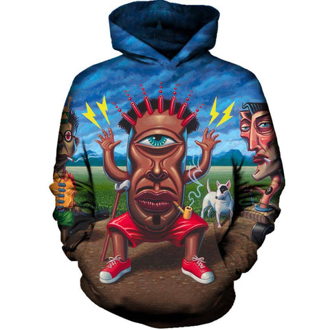 Image of Petitioning Papa Legba Womens Hoodie