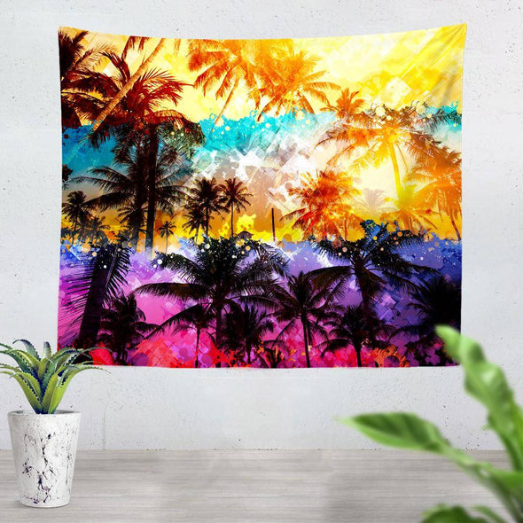 Florida Palm Trees Tapestry