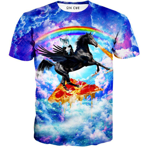 Image of Puppy Riding Pegasus T-Shirt