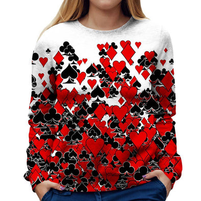 Cards Womens Sweatshirt