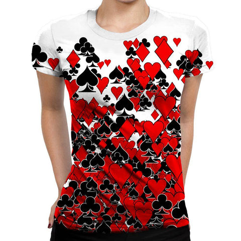Image of Cards Womens T-Shirt
