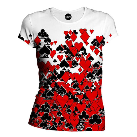 Image of Deck Of Cards Womens T-Shirt