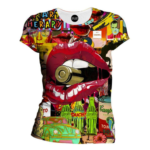Pop Art Therapy Womens T-Shirt