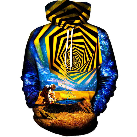 Image of Astronaut Yellow Portal Womens Hoodie