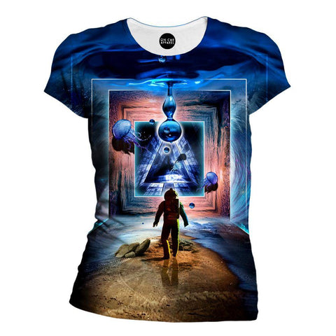 Image of Astronaut Portal To The Beyond Womens T-Shirt