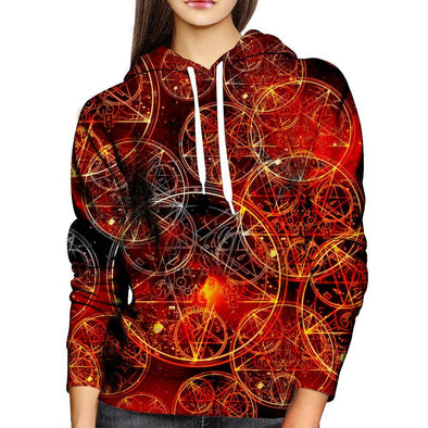 Conjuring Symbols Womens Hoodie