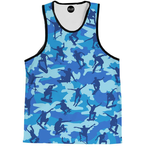 Image of Skater Camo Blue Tank Top