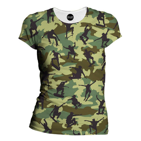 Image of Skater Camo Womens T-Shirt