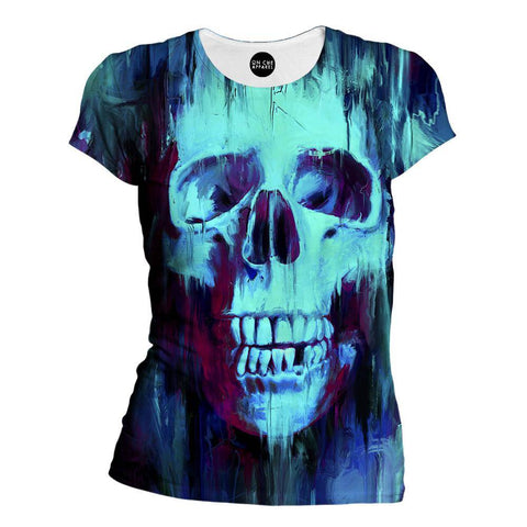 Painted Skull Womens T-Shirt