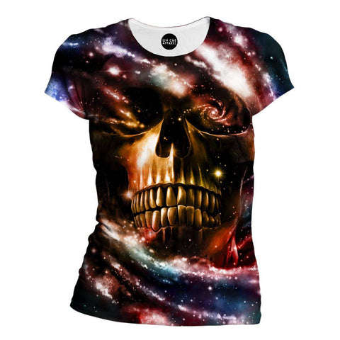 Space Skull 2 Womens T-Shirt