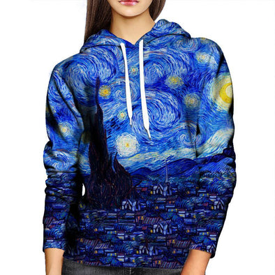 Starry Night Womens Hoodie