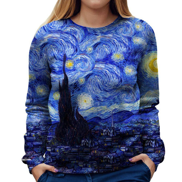 Starry Night Womens Sweatshirt