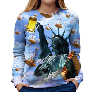 Merica Womens Sweatshirt