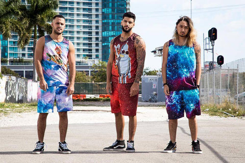 Image of Alien Panda Tank and Shorts Rave Outfit