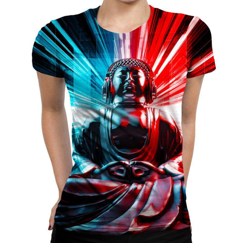 Image of Buddha Womens T-Shirt