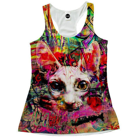 The Graffiti Cat Racerback