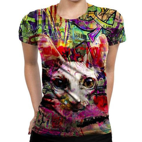 Image of Cat Womens T-Shirt