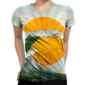 Wave Womens T-Shirt