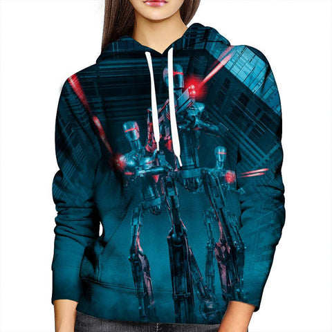 Image of Robot womens Hoodie