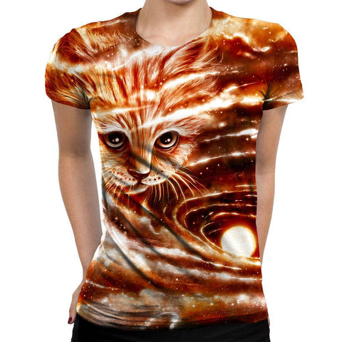Cat Womens T-Shirt