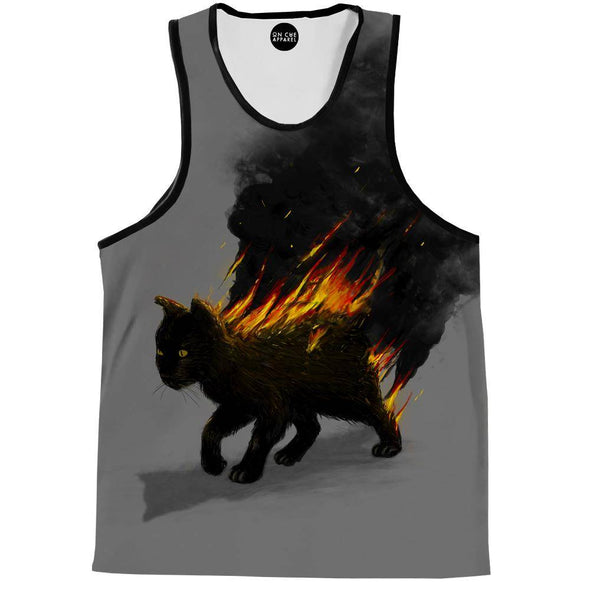 The Cat Is On Fire Tank Top