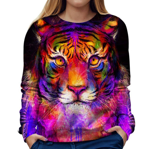 Image of tiger womens sweatshirt