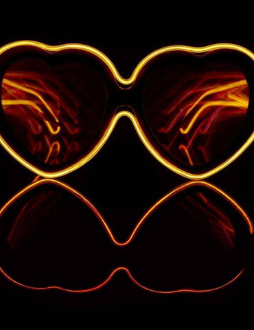 Image of Customizable Heart Luminescence Diffraction Glasses